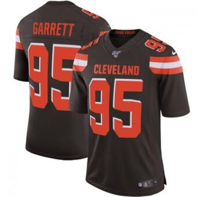 NFL Cleveland Browns 95 Myles Garrett Brown  100th Season Vapor Untouchable Limited  Men Jersey
