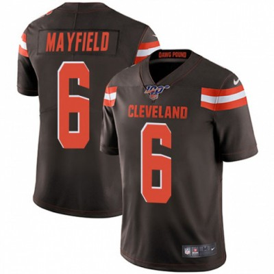 NFL Cleveland Browns 100th 6 Baker Mayfield Brown Vapor Untouchable Limited Men Jersey