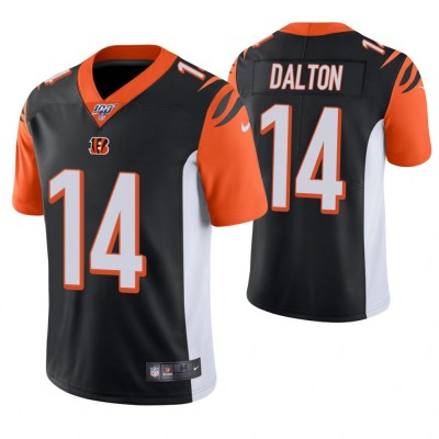 NFL Cincinnati Bengals 14 Andy Dalton Black 100th Season Vapor Untouchable Limited  Men Jersey
