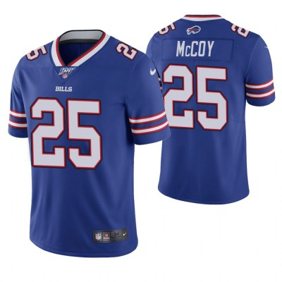 NFL Buffalo Bills 25 LeSean McCoy 100th Season Blue Vapor Untouchable Limited  Men Jersey