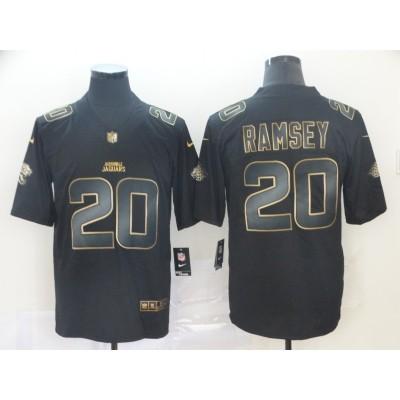 Nike Jaguars 20 Jalen Ramsey Black Gold Vapor Untouchable Limited Men Jersey