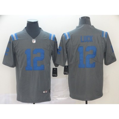 Nike Colts 12 Andrew Luck  Grey Inverted Legend Men Jersey