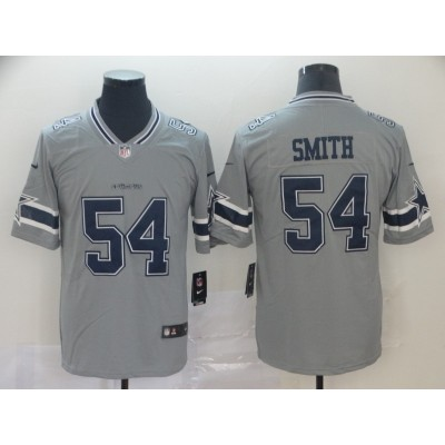 Nike Cowboys 54 Jaylon Smith Grey Inverted Legend Men Jersey