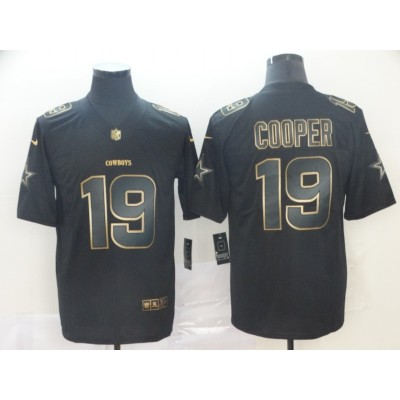 Nike Cowboys 19 Amari Cooper Black Gold Vapor Untouchable Limited Men Jersey