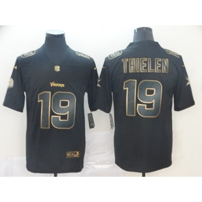 Nike Vikings 19 Adam Thielen Black Gold Vapor Untouchable Limited Men Jersey