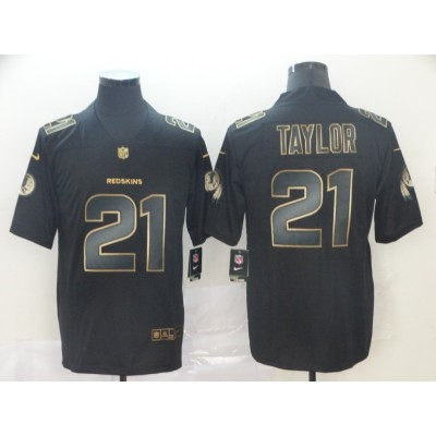 Nike Redskins No.21 Sean Taylor Black Gold Vapor Untouchable Limited Men Jersey