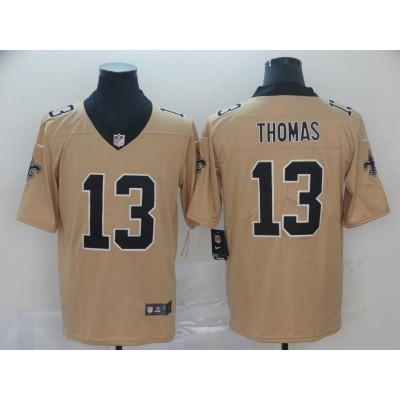 Nike New Orleans Saints 13 Michael Thomas Gold Inverted Legend Men Jersey