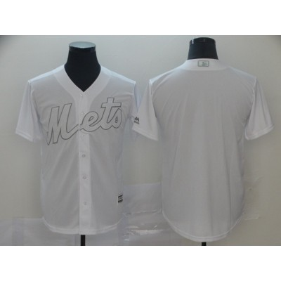 MLB Mets Blank White 2019 Players Weekend Player Men Jersey