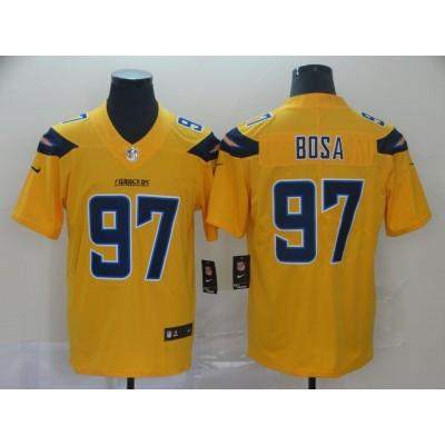 Nike Chargers 97 Joey Bosa Yellow Inverted Legend Men Jersey