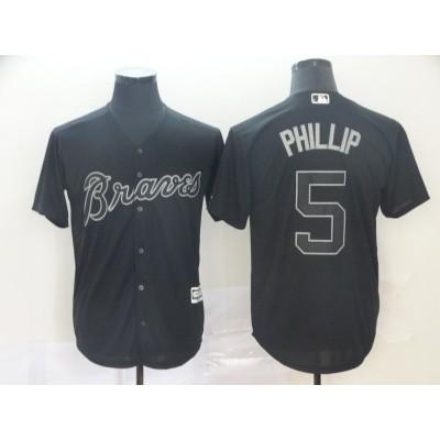 MLB Braves 5 Freddie Freeman Phillip Black 2019 Players Weekend Player Men Jersey