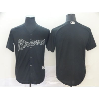 MLB Braves Blank Black 2019 Players Weekend Player Men Jersey