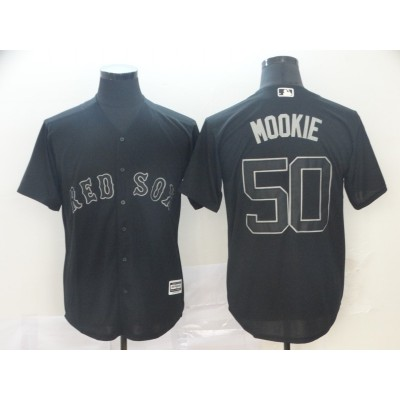 MLB Red Sox 50 Mookie Betts Mookie White 2019 Players Weekend Player Men Jersey