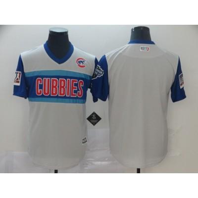 MLB Cubs Blank Gray 2019 MLB Little League Classic Team Men Jersey