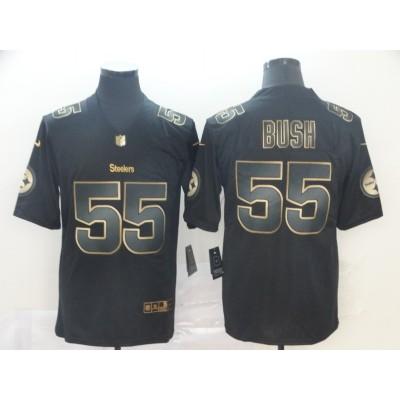 Nike Steelers 55 Devin Bush Black Gold Vapor Untouchable Limited Men Jersey