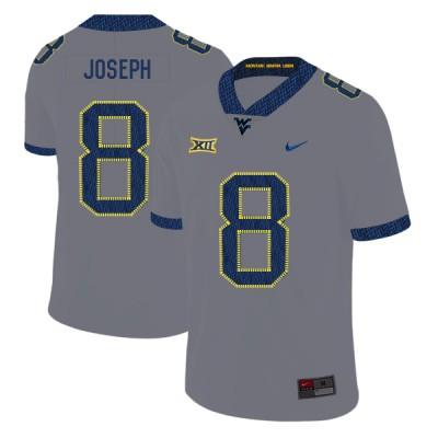 NCAA West Virginia Mountaineers 8 Karl Joseph Gray College Football Men Jersey