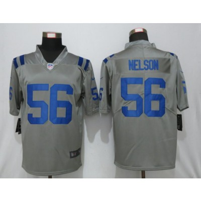 Nike Colts 56 Quenton Nelson Gray Inverted Legend Limited Men Jersey