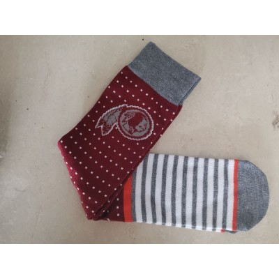 Washington Redskins Team Logo Red Gray NFL Socks