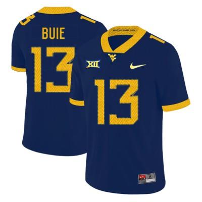 NCAA West Virginia Mountaineers 13 Andrew Buie Navy College Football Men Jersey