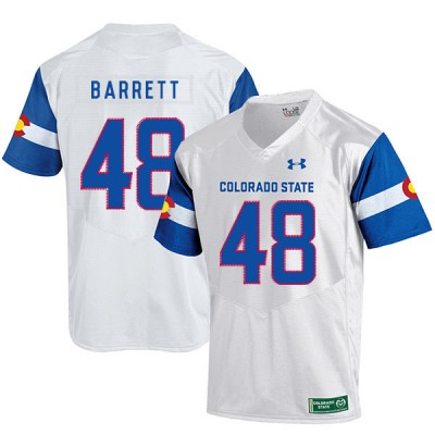NCAA Colorado State Rams 48 Shaquil Barrett White College Football Men Jersey