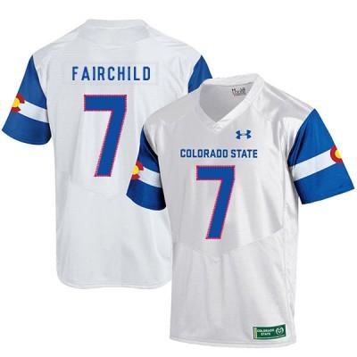 NCAA Colorado State Rams 7 Steve Fairchild White College Football Men Jersey