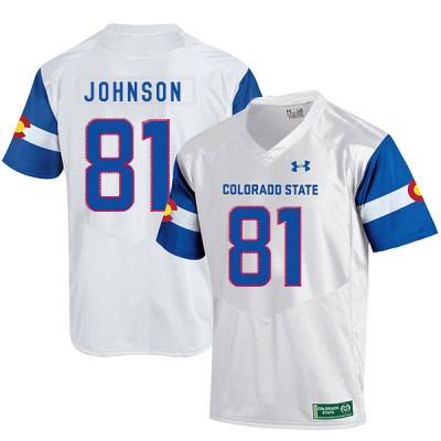 NCAA Colorado State Rams 81 Olabisi Johnson White College Football Men Jersey