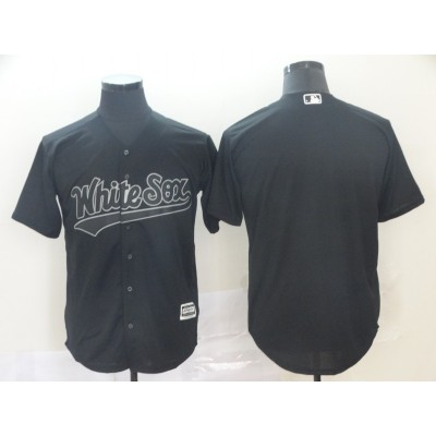 MLB White Sox Blank Black 2019 Players' Weekend Player Men Jersey