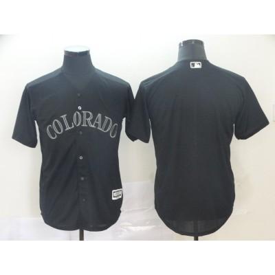 MLB Rockies Blank Black 2019 Players' Weekend Player Men Jersey