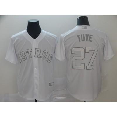 MLB Astros 27 Jose Altuve Tuve White 2019 Players Weekend Player Men Jersey