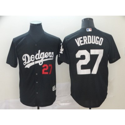 MLB Dodgers 27 Alex Verdugo Black 2019 Players Weekend Player Men Jersey
