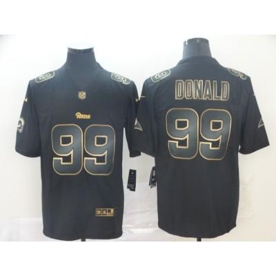 Nike Rams 99 Aaron Donald Black Gold Vapor Untouchable Limited Men Jersey