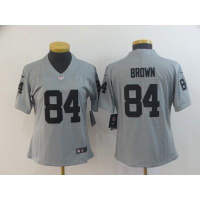 Nike Raiders 84 Antonio Brown Gray Inverted Legend Women Jersey
