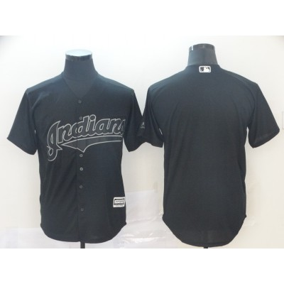 MLB Indians Blank Black 2019 Players' Weekend Player Men Jersey