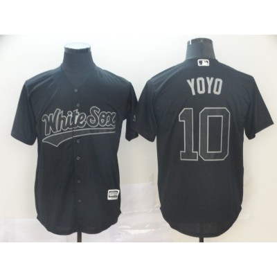 MLB White Sox 10 Yoan Moncada YoYo Black 2019 Players Weekend Player Men Jersey