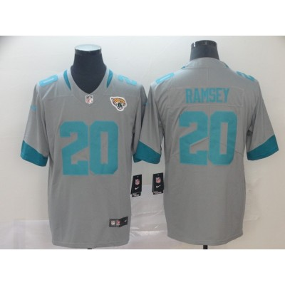 Nike Jaguars 20 Jalen Ramsey Grey Inverted Legend Men Jersey
