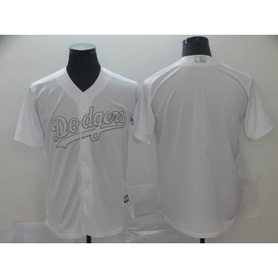 MLB Dodgers Blank White 2019 Players Weekend Player Men Jersey