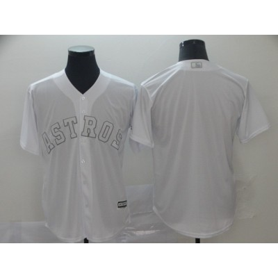 MLB Astros Blank White 2019 Players' Weekend Player Men Jersey