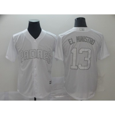 MLB Padres 13 Manny Machado El Ministro White 2019 Players Weekend Player Men Jersey