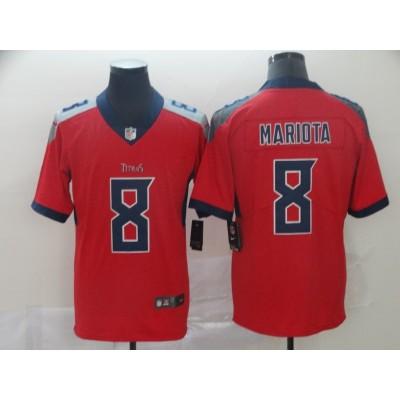 Nike Titans 8 Marcus Mariota Red Inverted Legend Men Jersey
