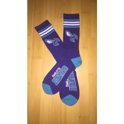 Charlotte Hornets Team Logo Purple NBA Socks