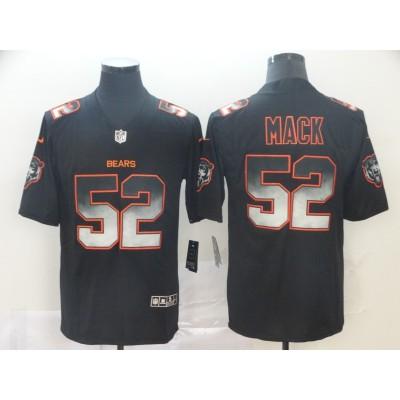 Chicago Bears 52 Khalil Mack 2019 Black Smoke Fashion Limited Men Jersey