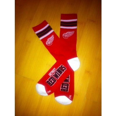 Detroit Red Wings Team Logo Red NHL Socks