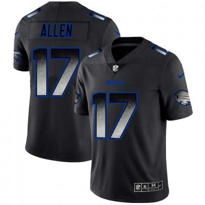 Buffalo Bills 17 Josh Allen Black 2019 Smoke Fashion Limited Men Jersey
