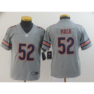 Nike Bears 52 Khalil Mack Gray Inverted Legend Youth Jersey