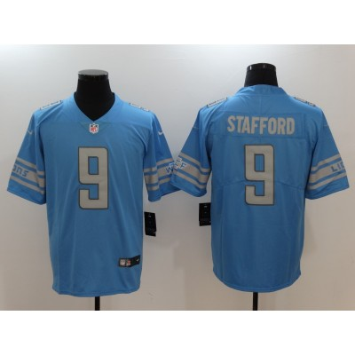 Nike Lions 9 Matthew Stafford Blue Inverted Legend Men Jersey