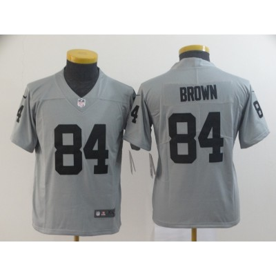 Nike Raiders 84 Antonio Brown Gray Inverted Legend Youth JERSEY