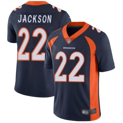 NFL Denver Broncos 22 Kareem Jackson 100th Season Navy Vapor Untouchable Limited Men Jersey