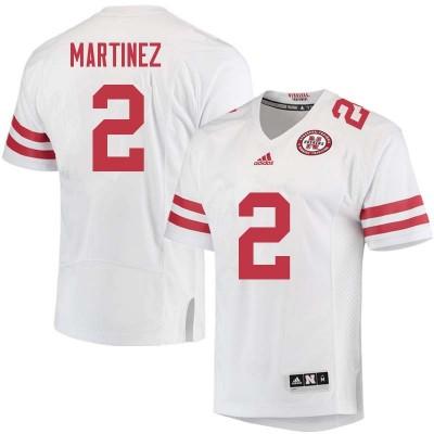 NCAA Adidas Nebraska Cornhuskers 2 Adrian Martinez White Men Jersey