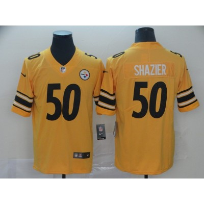 Nike Steelers 50 Ryan Shazier Gold Inverted Legend Men Jersey