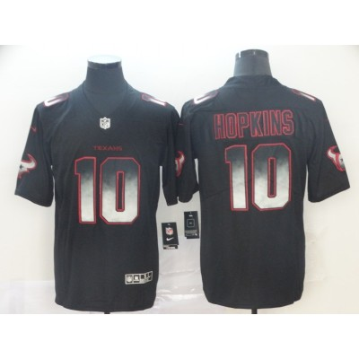 Houston Texans 10 DeAndre Hopkins Black 2019 Smoke Fashion Limited Men Jersey