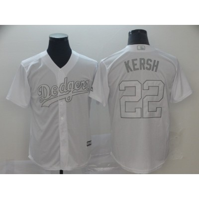 MLB Dodgers 22 Clayton Kershaw Kersh White 2019 Players Weekend Player Men Jersey